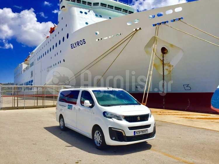 Sougia minivan in Chania port